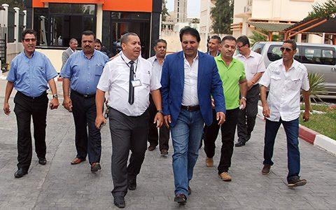 Le Secrétaire Général du Syndicat Jordanien du Pétrole et sa délégation en visite de travail à GCB